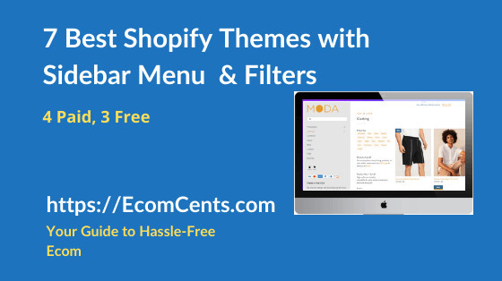 Best Shopify Themes with Sidebar Menu & Filters