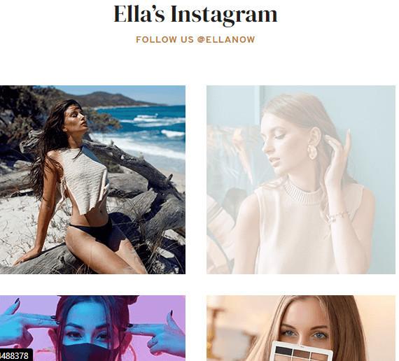 Shopify Theme Ella IG Feed